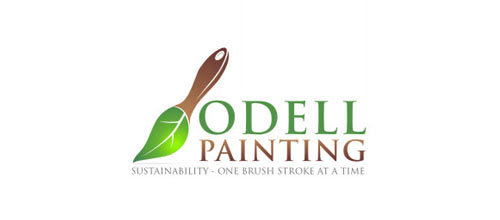 Odell Painting logo design examples