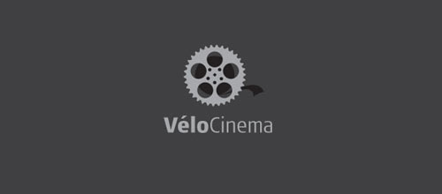 Vélo Cinema logo design examples