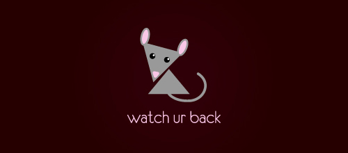 watch ur back logo design examples