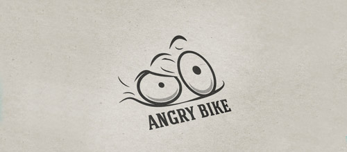 bike logo design angry bicycle logo design
