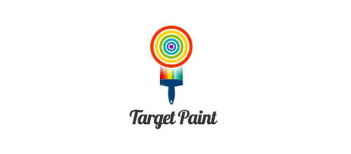Target Paint logo design examples