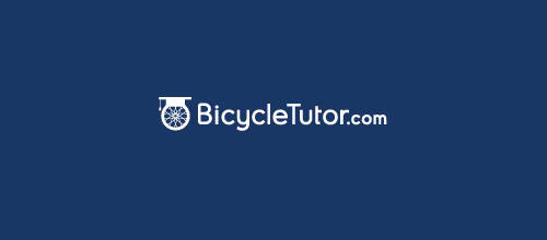 bike logo design Bicycle Tutor logo