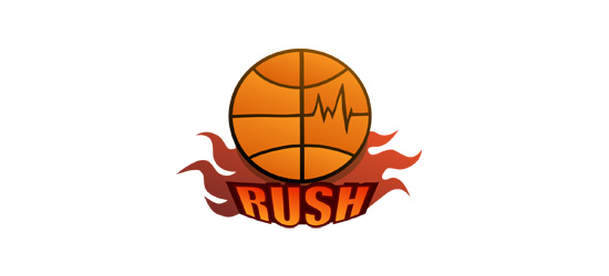 basketball logo design ideas Rush