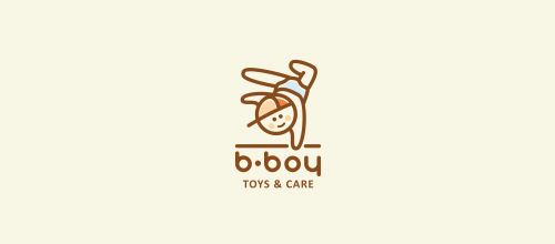 B-boy logo design
