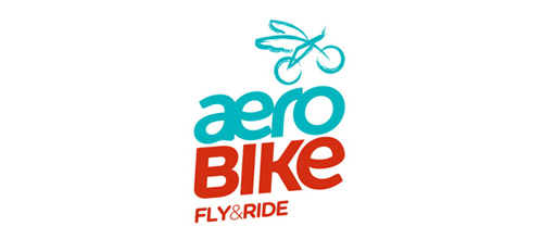 bike logo design aerobike logo