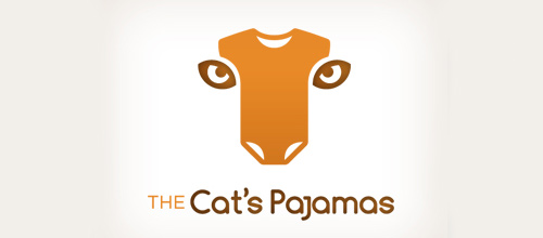 Pajamas tiger logo design ideas