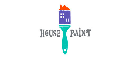 HOUSE PAINT logo design examples