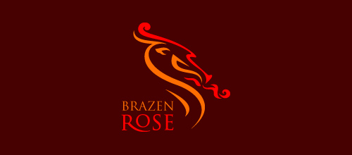 dragon logo design examples Brazen Rose