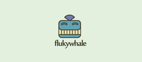 Flukywhale logo design examples