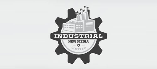 Industrial New Media logo design examples