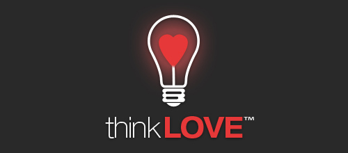 think LOVE logo design examples