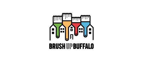 Brush Up Buffalo logo design examples