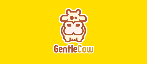 GentleCow logo design examples