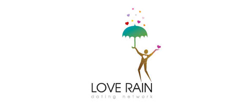 LOVE RAIN logo design