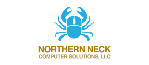 Northern Neck Computer Solutions logo design examples