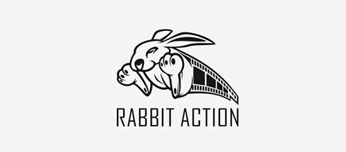 Rabbit Action logo design examples