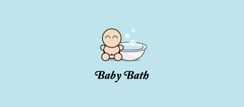 baby bath logo design
