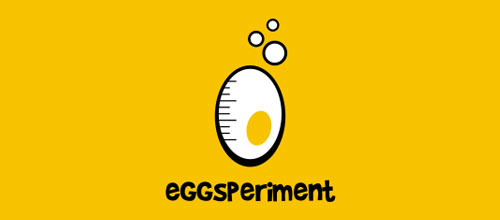 Eggsperiment logo design examples ideas