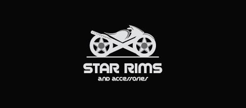 Rim Design Bike Logo Design Star Rims And