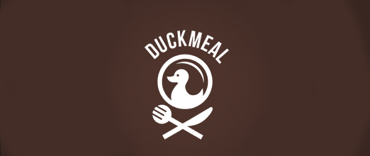 Restaurant food ducks logo design examples