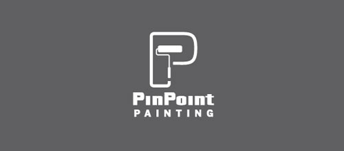 PinPoint Painting V2 logo design examples