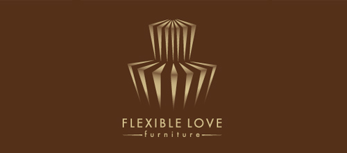 furniture logo designs examples Flexbile Love Furniture