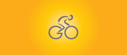 bike logo design Go logo