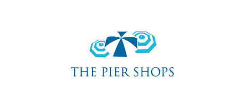 The Pier Shops logo design