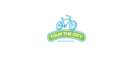 bike logo design TOUR THE CITY ( chosen version )