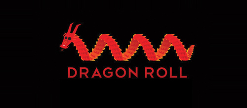 dragon logo design examples Dragon Roll