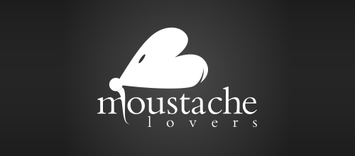 Moustache Lovers logo design examples