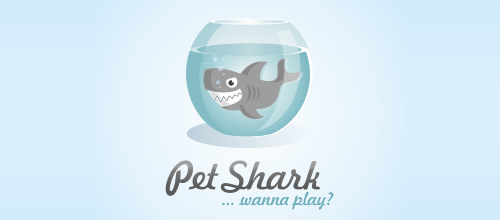 Pet Shark logo design examples