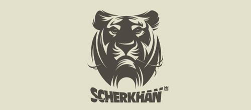 Nice grey tiger logo design ideas