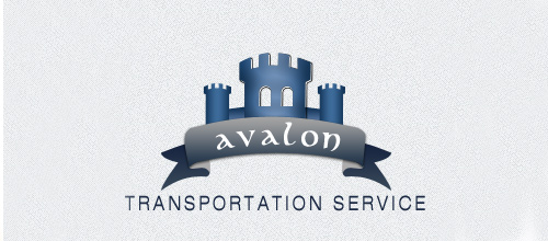 Trasportation castle logo design examples ideas