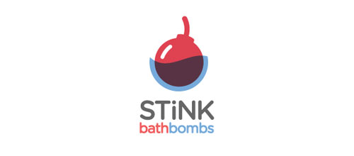 Stink Bathbombs logo design examples