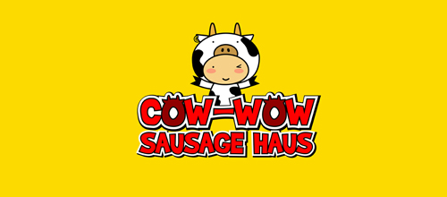 Cow-Wow Sausage Haus logo design examples