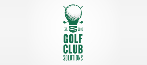 Golf Club Solutions logo design examples