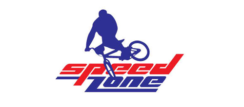 bike logo design Speed Zone logo