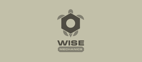 Wise Mechanics logo design ideas