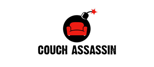 Couch Assassin logo design examples