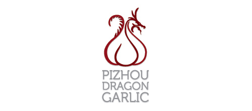 dragon logo design examples pizhou dragon garlic