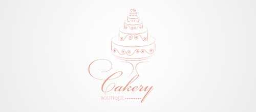 logo design cake boutique logo design