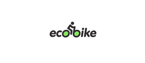bike logo design ecobike logo
