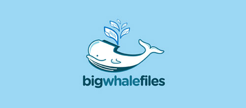 Big Whale Files logo design examples