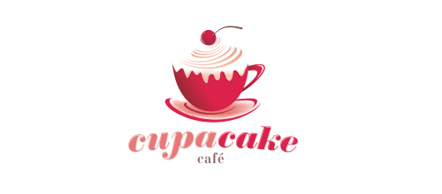 logo design CupaCake Cafe