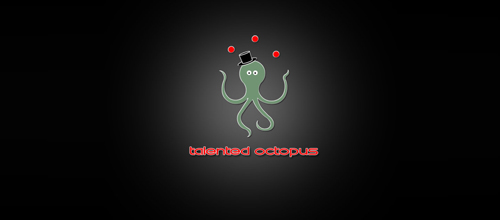 Talented Octopus logo design examples