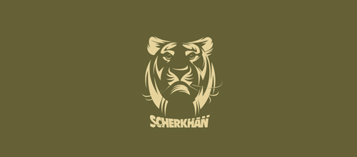 Green version tiger logo design ideas