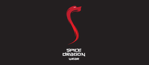 dragon logo design examples spice dragon