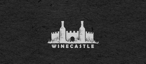 Wine castle logo design examples ideas