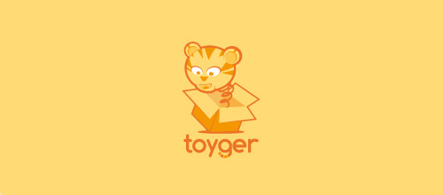 Toy tiger logo design ideas